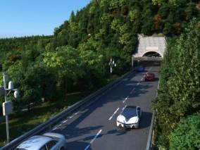 国道马路公路隧道现代道路3D场景模型