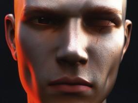 男人人头 3d模型
