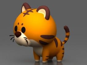 卡通老虎 Q版老虎 可爱老虎 卡通动漫 3Dm模型