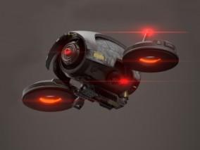 ue4 科幻飞行器 带绑定动画 未来科幻监视器 虚幻4 3D模型