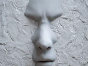 创意模型  墙内人脸 3d模型