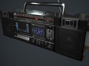 录音机  复古收音机  播放器 3d模型