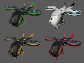 科幻无人机概念无人机CG模型