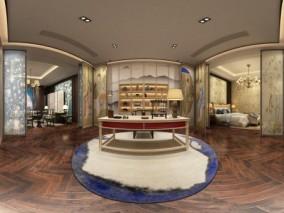 新中式展厅 3d模型