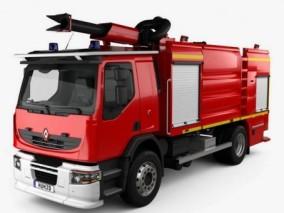 雷诺消防车 3d模型