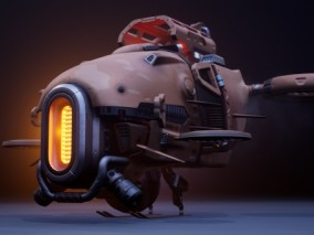 ue4超酷飞行器未来无人机CG模型