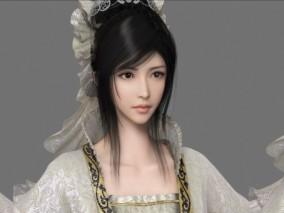 Maya古代美女人物角色模型带材质 3d模型