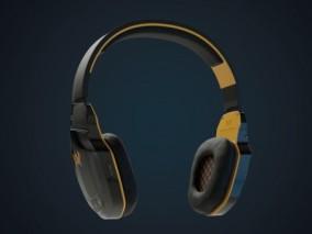 蓝牙头戴式耳机3D模型