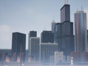 ue4 模型组合包 城市建筑 高楼大厦 枪械武器 地下管道 虚幻4 3d模型