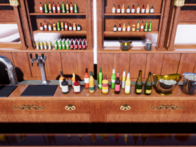 ue4真实的酒柜CG模型