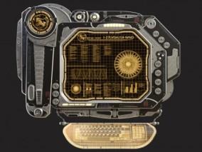 科幻计算机  科幻电脑 3d模型