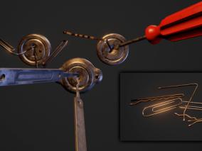 ue4 钥匙孔 螺丝刀 五金工具 专业开锁 锁芯 虚幻4 3d模型