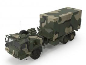 现代军队指挥车 3d模型