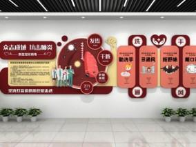 洗手通风 抗击疫情 医疗文化墙 3d模型