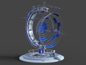 科幻通信天线未来通信基站Cg模型