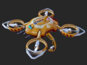 科幻无人侦察机CG模型
