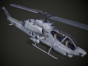 美军武装直升机AH-1W海眼镜蛇CG模型