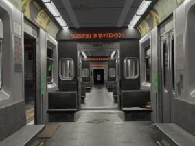 地铁站 地铁CG模型