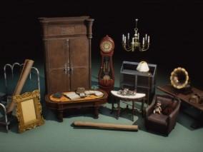 ue4 中世纪家具组合CG模型