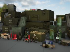 ue4武器弹药箱CG模型