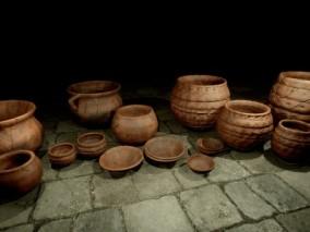ue4 陶瓷罐子古董文物Cg模型