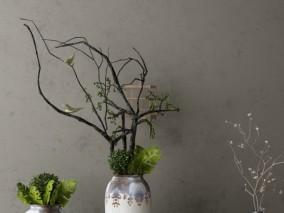 各色绿植 饰品 3d模型