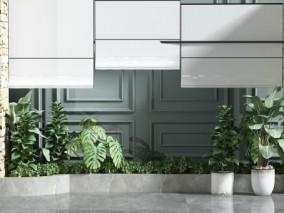 现代绿植 树林 盆栽 3d模型