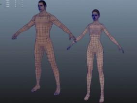 男女角色裸模CG模型