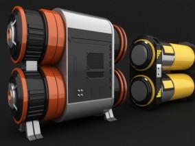 科幻油罐 工厂部件 发电机 电源 太空部件 能量包 未来机械 电池能源装置 能源基地 3d模型