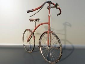 复古自行车 3d模型