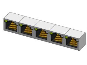 网线口 3d模型