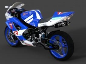 摩托车骑行机车3D模型
