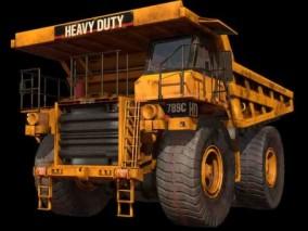 PBR矿用重型卡车CG模型