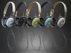 写实头戴式耳机CG模型