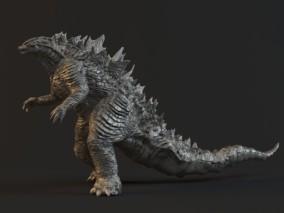 怪物雕塑 3d模型