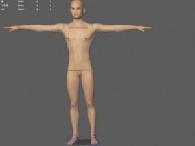 男性裸模亚洲男性CG模型