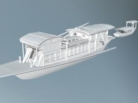 嘉兴南湖红船游船模型