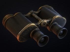 写实金属望远镜CG模型