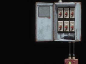 电箱电表 3d模型