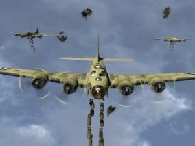 轰炸机军用飞机CG模型