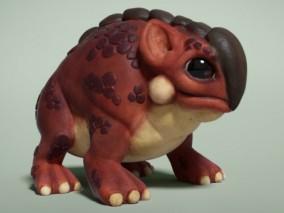蟾蜍 3d模型