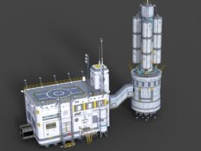 太空基站宇宙基地CG模型