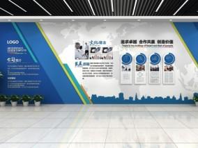 企业文化墙 3d模型