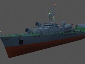 小型 鱼雷导弹艇快艇 驱逐艇 小型军舰反潜舰 轻型护卫舰 战舰 战船 3d模型