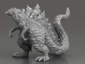 哥斯拉 泰坦巨兽 外星生物 格斯拉 哥吉拉 怪兽之王 奥特曼恐龙 3D打印摆件 3d模型