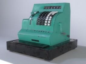 老式复古自提款取款机 打字机 打字机 写实电报机机械式打字机 复印机 3d模型