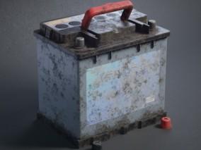 汽车电瓶电池CG模型