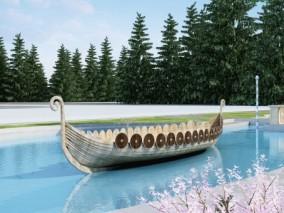 现代游园小船3D模型