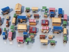现代售货车合集CG模型
