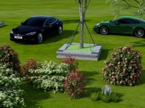现代植物树木组合3D模型